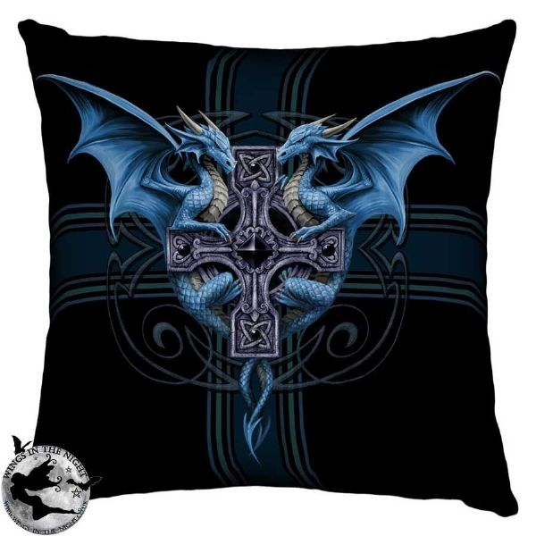 NEMESIS NOW Gothic Dragon Duo Cushion by Anne Stokes